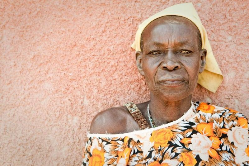 Ugandan woman at an MTI clinic