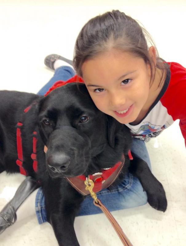 Service Dog Team of Mercedes and Romanelli
