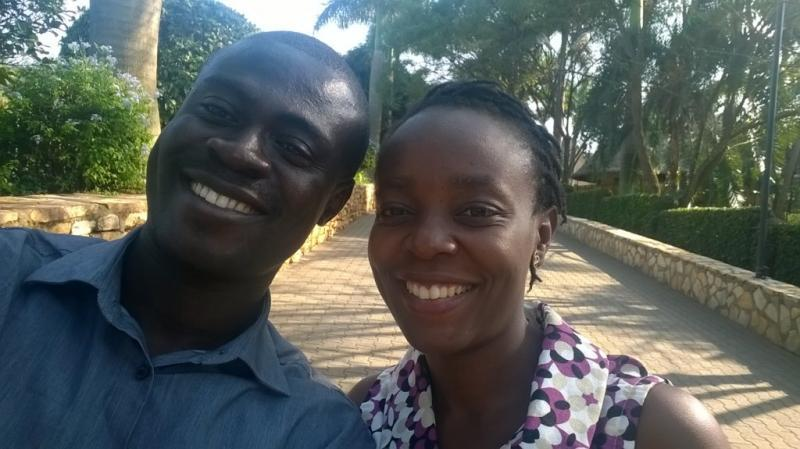 Michael and Anita from Ghana at the 5th International African Palliative Care Conference in Uganda