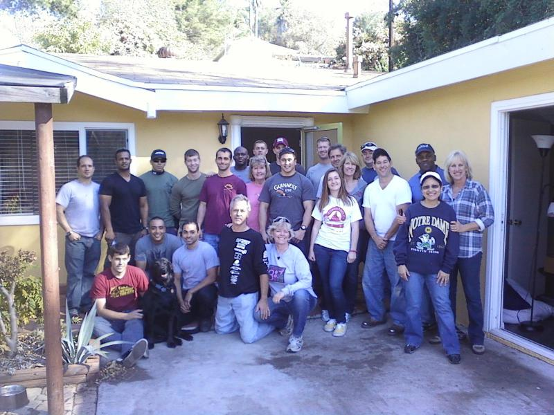 Community Voluntees help move our first Wounded Warrior into our first home.