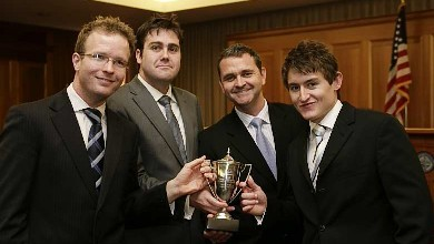 The winning moot team from Australia