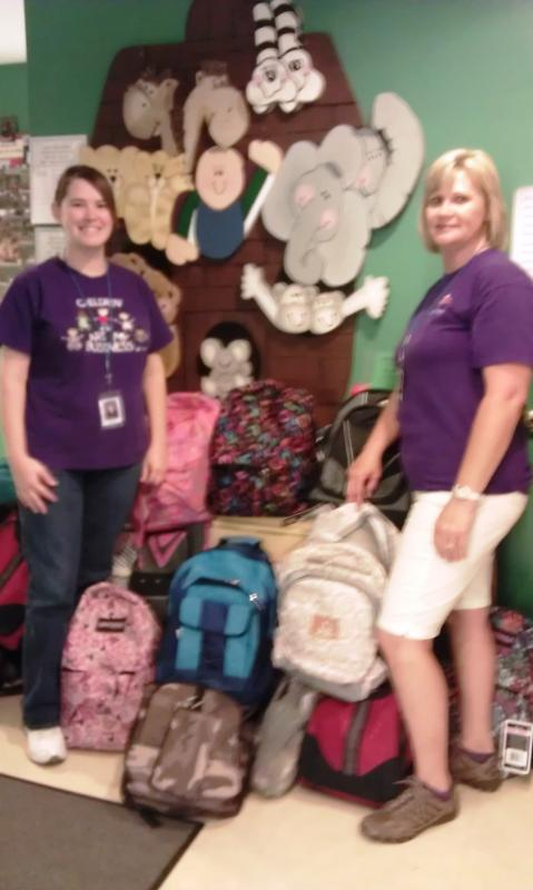 42 children rec'd backpacks full of supplies to start the 2012-2013 school year