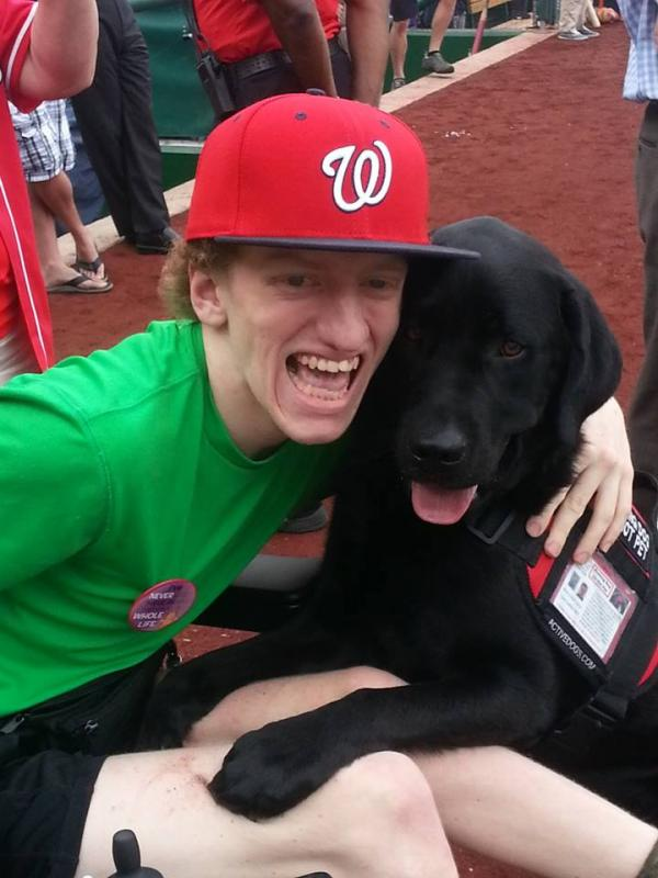 Mark and Service Dog, Monty