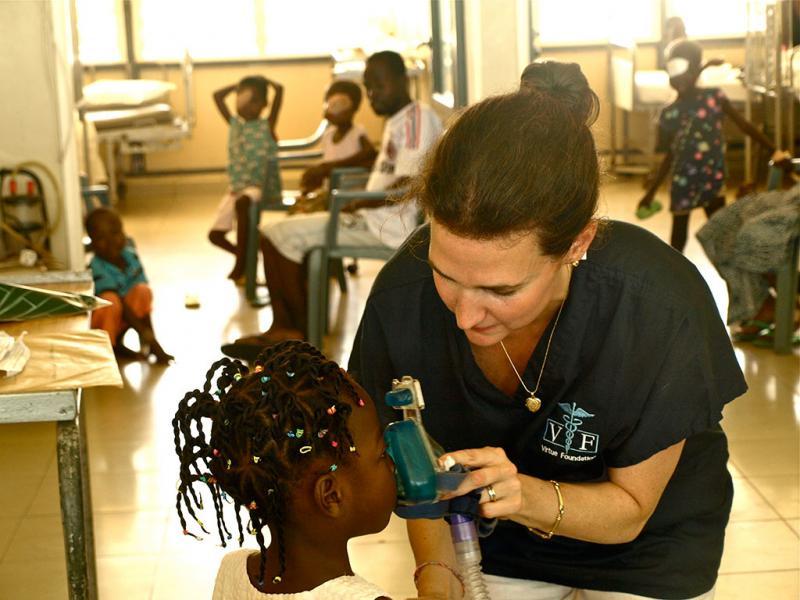 Virtue Foundation's Dr. Joan LaRovere in Ghana