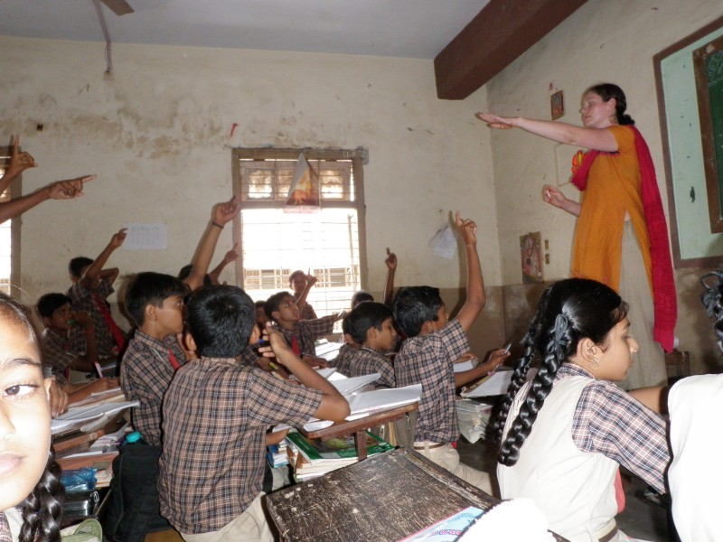 Teaching at the Bajipira School