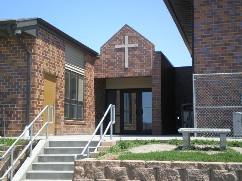 Main entrance to the men's shelter and Curtis Center transitional housing program
