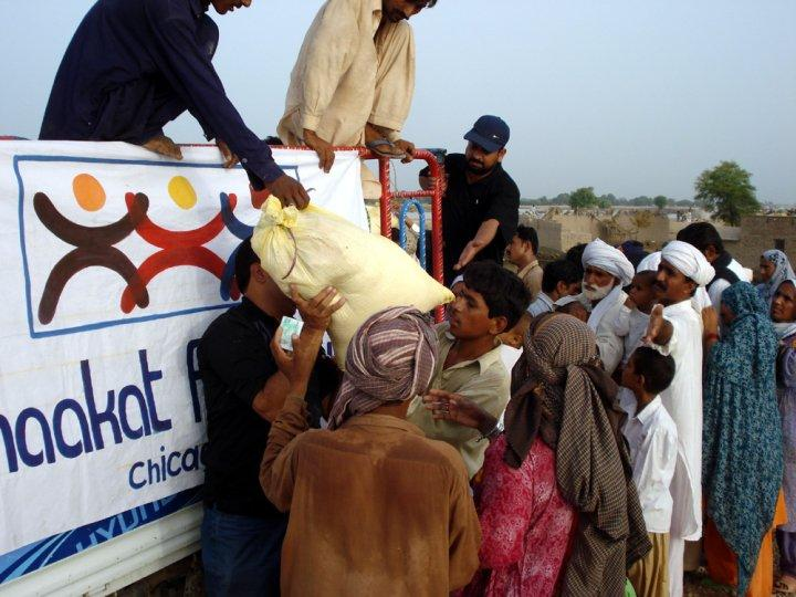 Thaakat's aid initiative in Pakistan after the disastrous flooding.