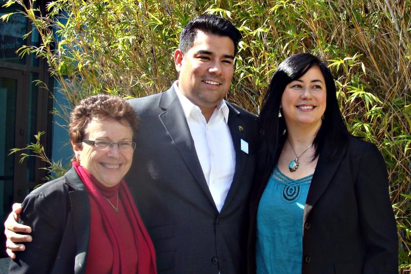 Patty Giggins, Assemblymember Ricardo Lara and the Partnership's Prevention Coordinator, Lisa Parks