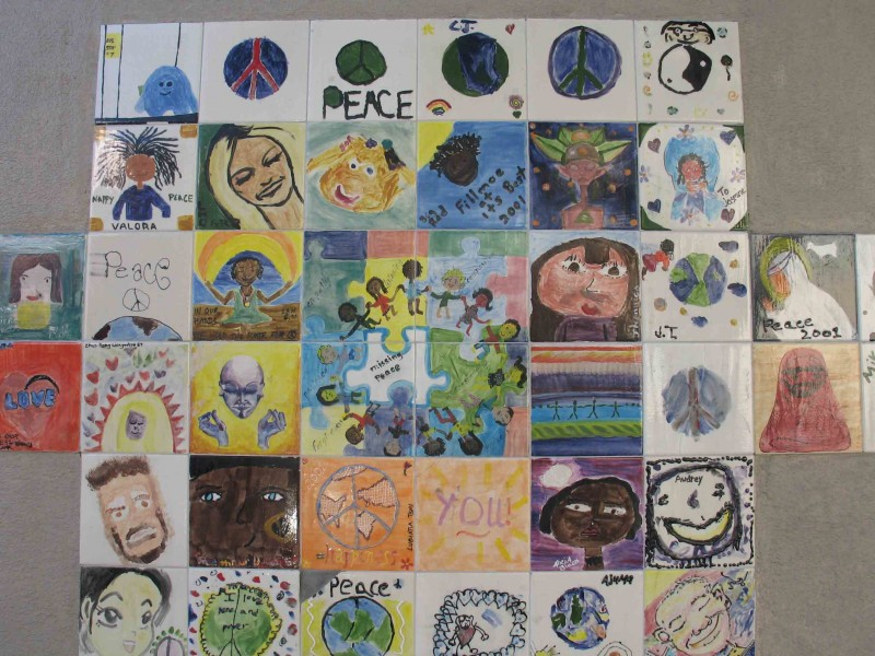 Peace Tiles of Faces