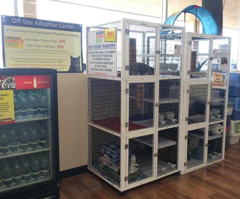 We frequently partner with pet-related businesses to provide opportunities for people to adopt pets at more convenient locations, like the Englewood Pet Supermarket.
