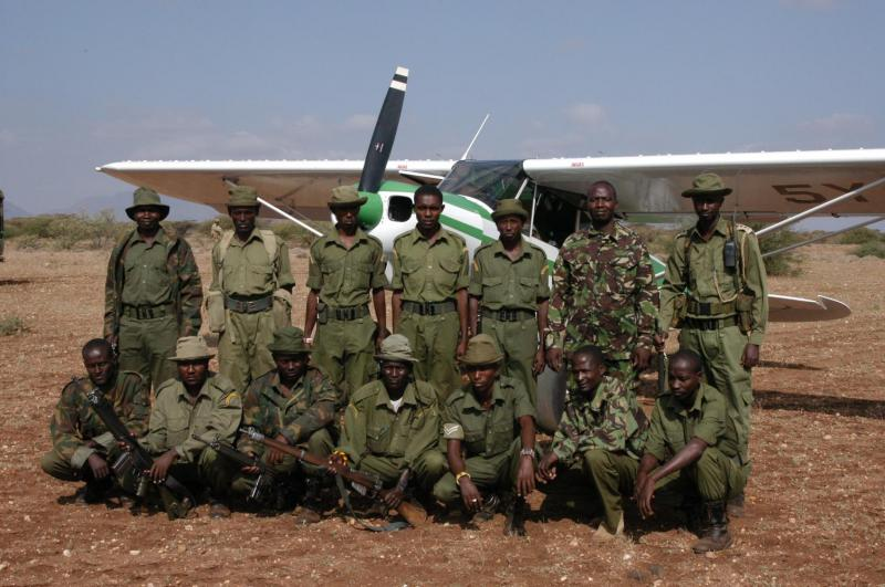 Anti-poaching guards at Northern Rangelands Trust