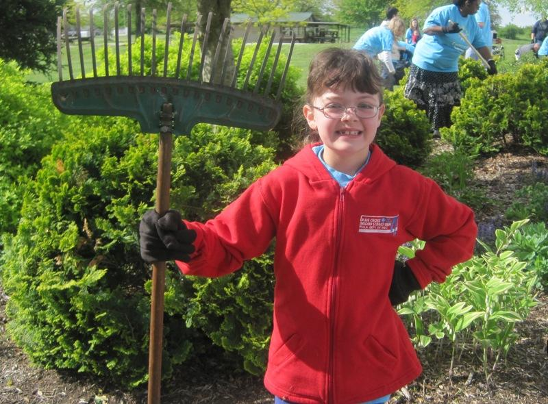 One of our smallest volunteers at Comcast Cares Day 2011