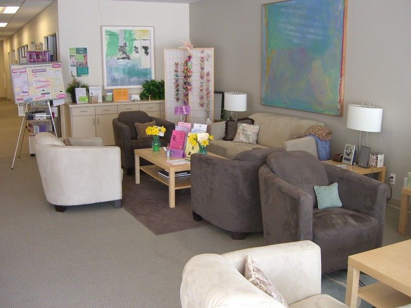 Welcoming couches for clients and support groups