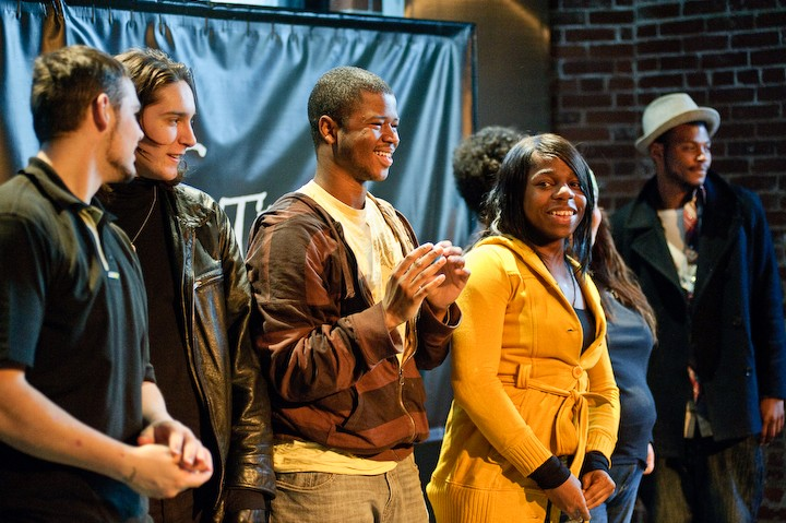 PlayWrites from New Avenues for Youth 2010 take a bow. Photo by Stage Right Performance Photography