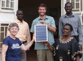 Presenting solar panel (Hunger Project)