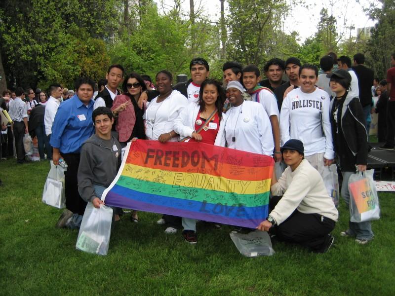 GSA activists show their pride!