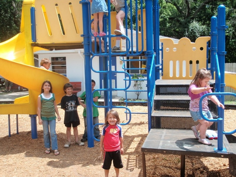 Kids staying at RCS Grace House enjoy the playground