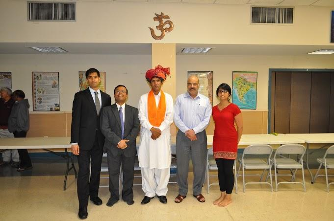 HAF staff and supporters with Ramesh Jaipal - Pakistani Hindu activist and head of the Hare Rama Foundation - at the Fairfax, VA Durga Temple
