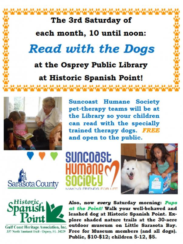 Our Doggie Tales program, including the Read with the Dogs event, helps children with their reading skills and teaches them how to approach a dog. Our pet therapy team loves these outings!