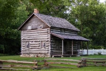 The Moon Log cabin was originally occupied by Darius Moon and his family in the 1860s.  Check Woldumar's event calendar at www.woldumar.org for upcoming tours and events at the cabin!