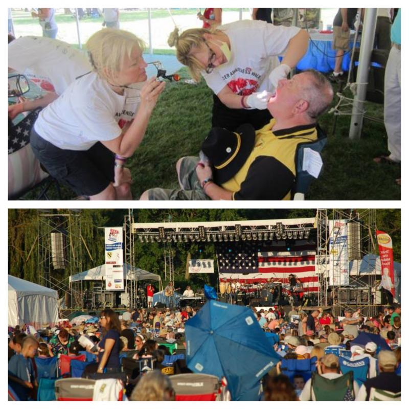 OCF Volunteers performed free oral cancer screenings to veterans and their families over the weekend at the 2013 Rockin' for the Troops: Cantigny! It was a great day!
