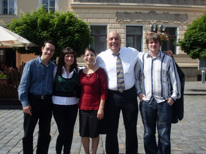 A senior lawyer and students in Pardubice