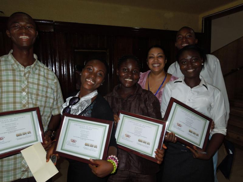 University of Liberia Scholarship Recipients 2012-2013