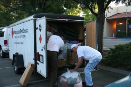Volunteers headed to a disaster