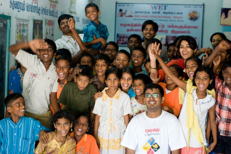 Bhumi's children at a community centre