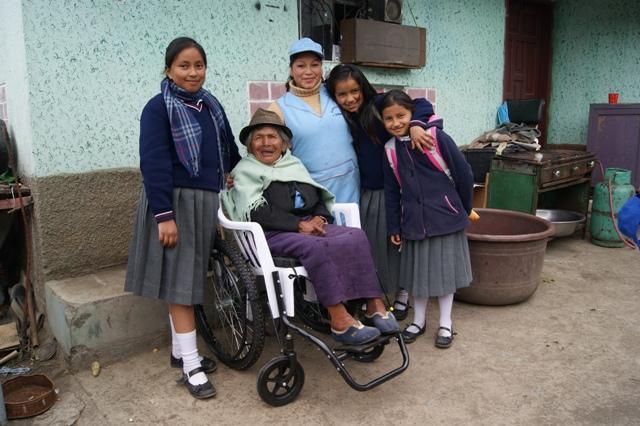Recipient and Family in Ecuador