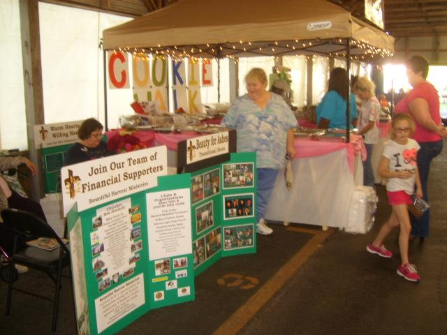 Cookie Walk Booth at Small Town USA Festival, Alexandria, IN.  Thanks to the many supporters who baked the cookies!