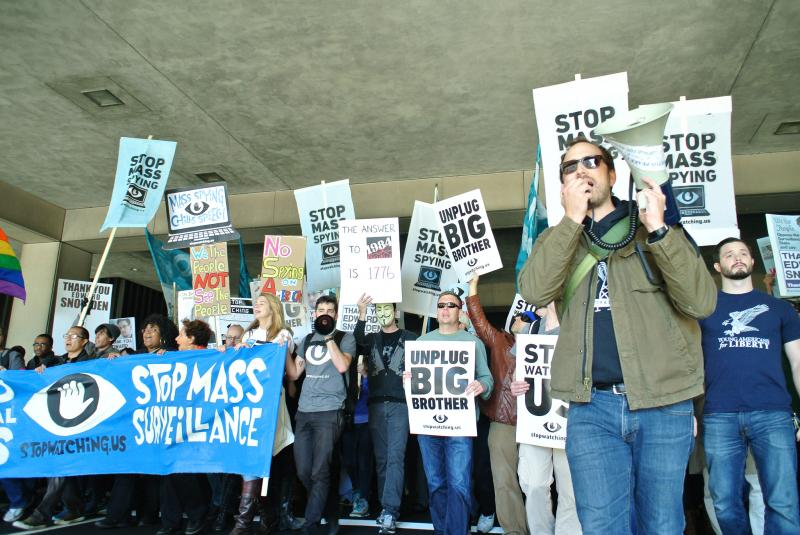 In October 2014 in Washington, D.C., Free Press organized the largest ever rally against mass surveillance in history.