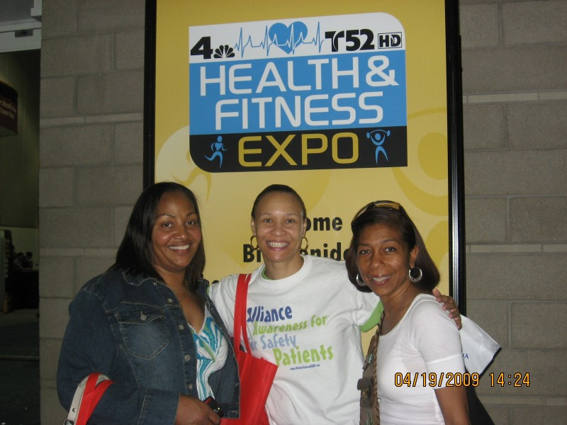 Spreading awareness and hand sanitizers at the NBC4/Telemundo Health Expo!