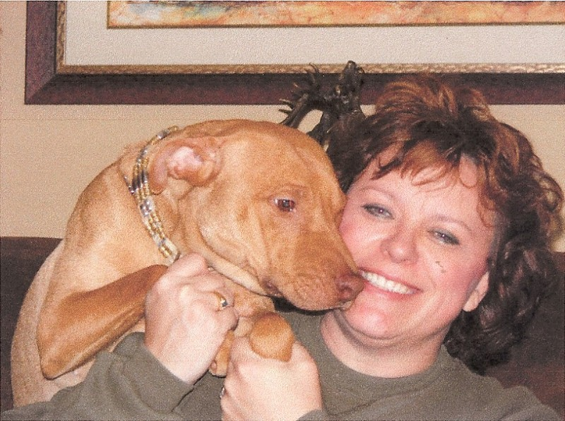 NATIONAL PRESIDENT WITH FOSTERED PET