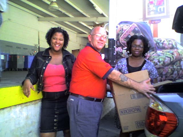 Hope Restoration Ministries giving donations to Salvation Army