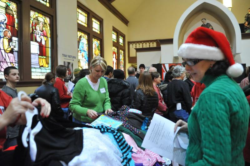 About 800 children from poor families will get Christmas gifts this year at our annual Santa Shop.