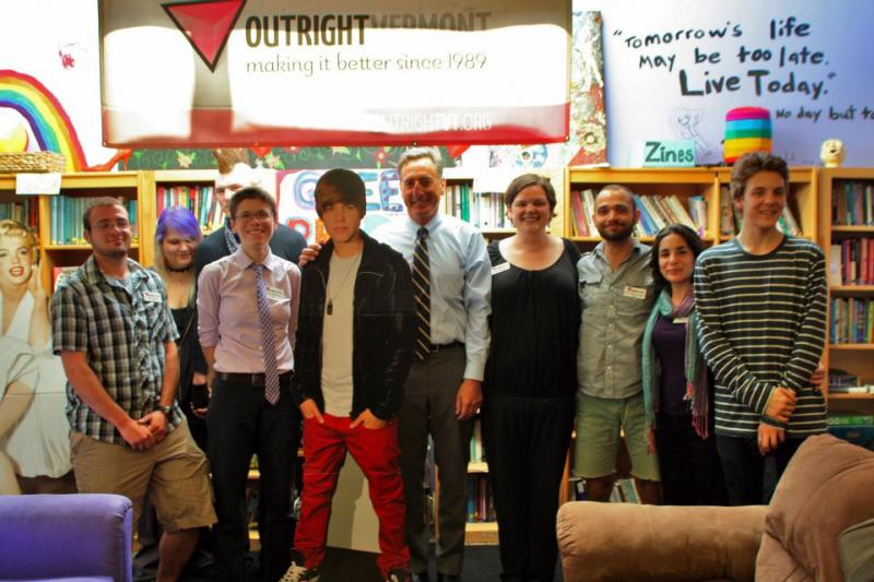Vermont Governor Shumlin with Outright VT's staff and youth!