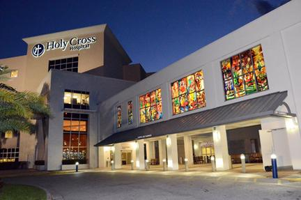 Holy Cross Hospital, Fort Lauderdale main entrance