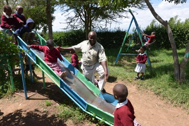 Playtime at Mahiga Playground, Kenya