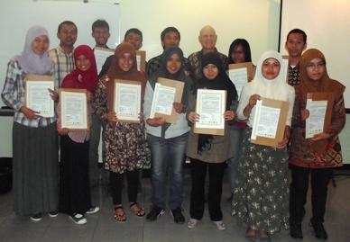 Recipients of the 2012 Orangutan Caring Scholarships in Sumatra