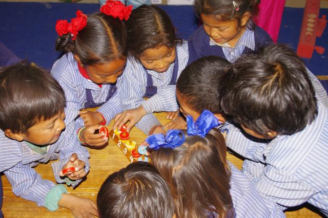 Children in an ETC-launched pre-primary classroom