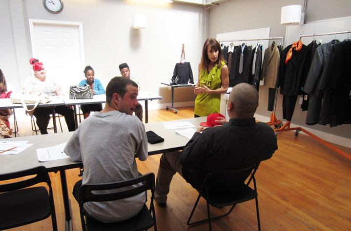 In WFO's Image Workshops, clients learn the do's and dont's of what to wear and how to present oneself in interviews and the workplace.