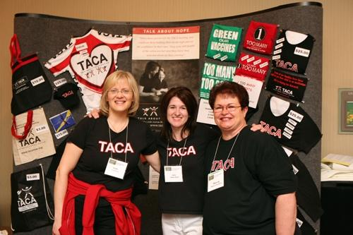 TACA mentoring - volunteers at conferences