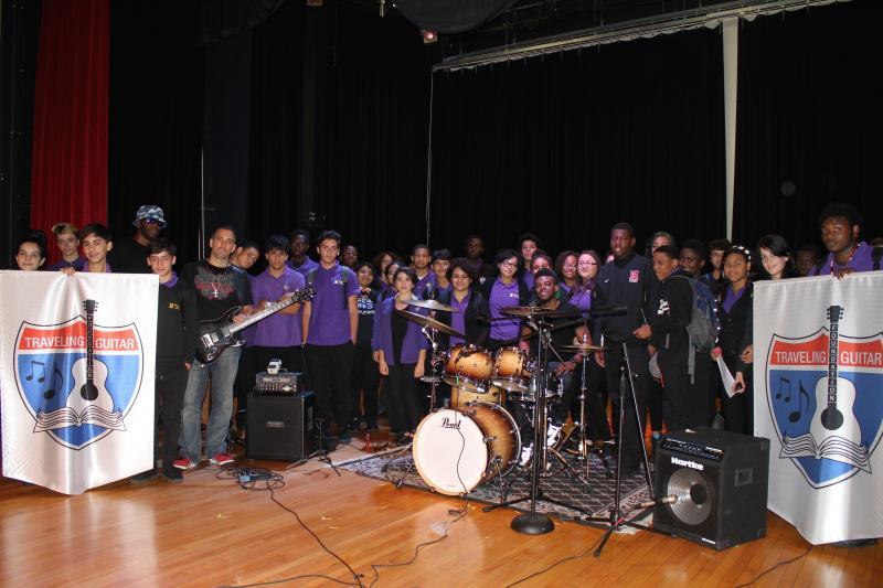 Traveling Guitar Foundation at Thomas Jefferson Arts Academy, Elizabeth, NJ 2014