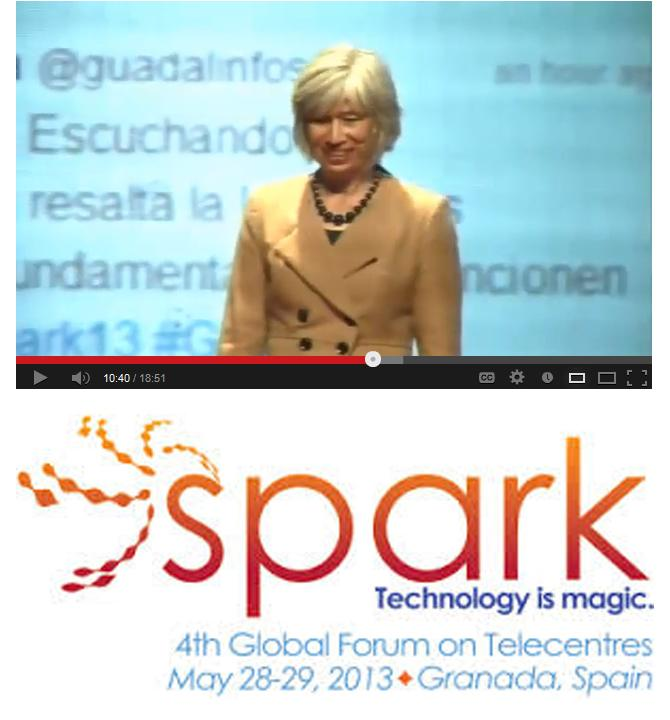 On May 29, 2013, TSG CEO Rebecca Masisak spoke at the 4th Global Forum on Telecentres in Granada, Spain. A member of the Telecentre.org Board of Trustees, Rebecca described the work of TechSoup Global in bridging the digital divide.