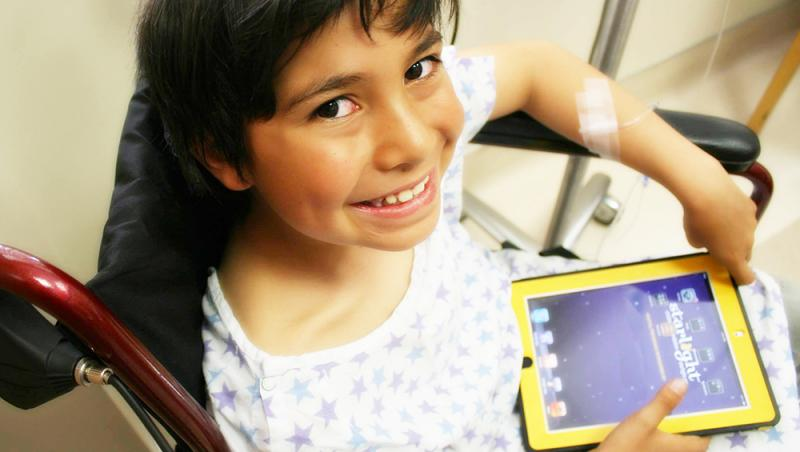 Starlight Tablets - A critical resource for healthcare professionals to support the ongoing needs of kids while in the hospital, Starlight Tablets connect directly to the Starbright World community