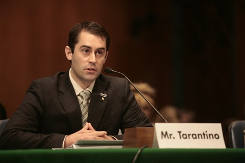 Legislative Associate, and Iraq Veteran, Tom Tarantino testifies on Capitol Hill