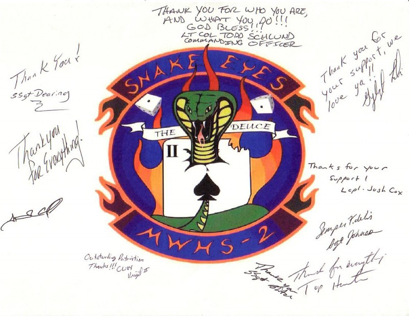 Thank you from MWHS-2, Iraq