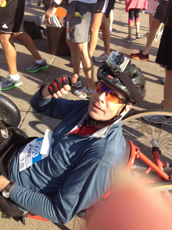 Handcycling the Cleveland Marathon '12