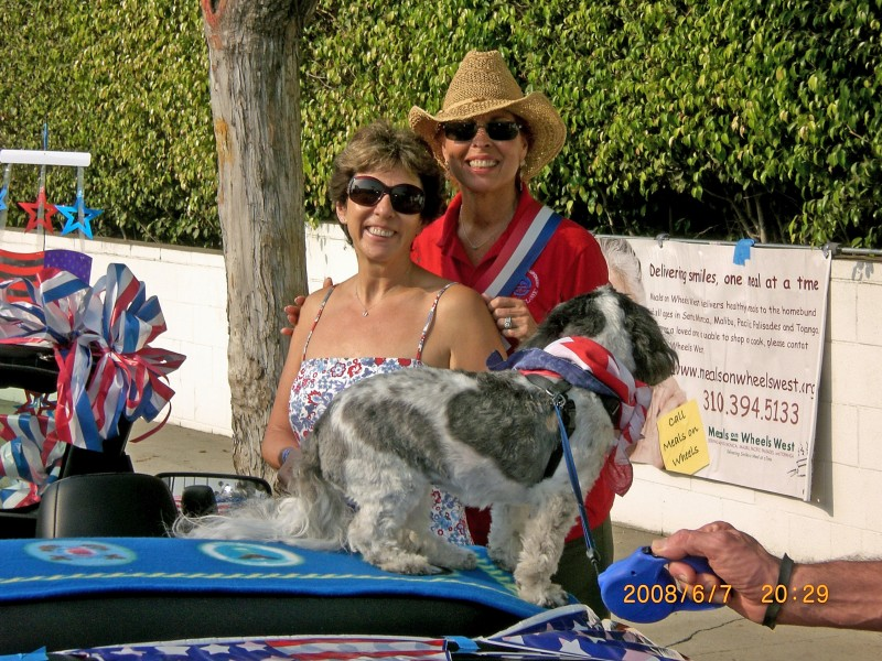 Tish and Rosie at the Parade